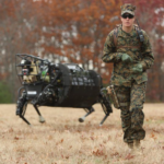 Un robot BigDog sur le terrain ©US Army