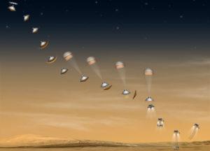 Séquence d'atterrissage du rover