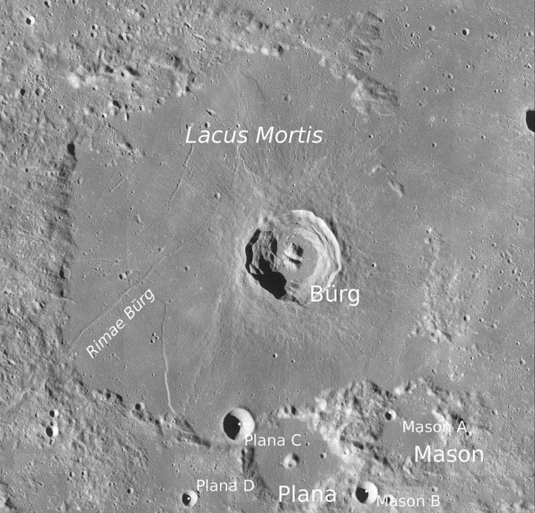 Photo de la région du Lacus Mortis