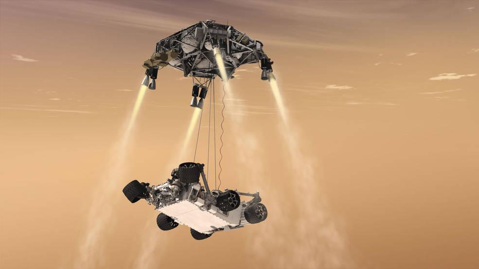 Image du rover Curiosity