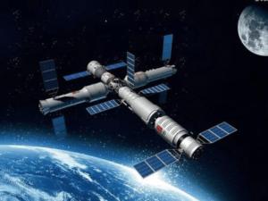 Représentation de la future station spatiale chinoise.