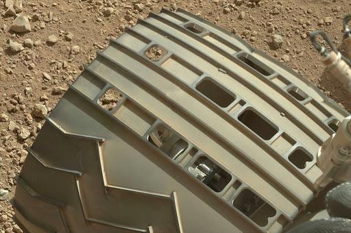 Détail des roues de Curiosity