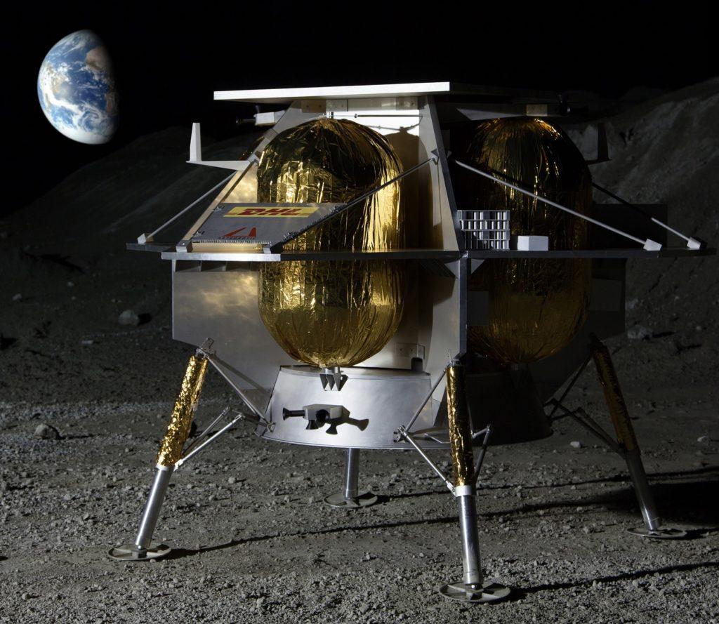 Maquette de l'atterrisseur développé par la compagnie Astrobotic