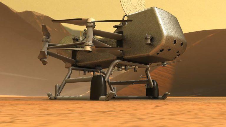 Image de synthèse du futur drone d'exploration Dragonfly
