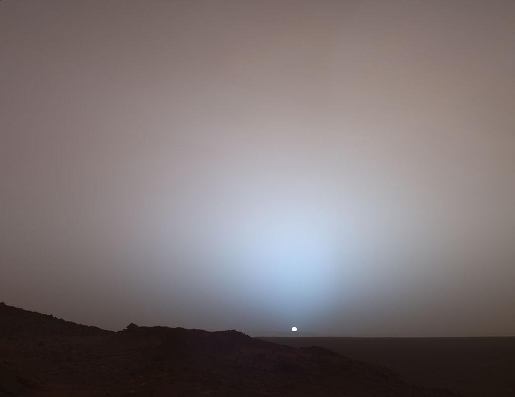 Coucher de soleil martien