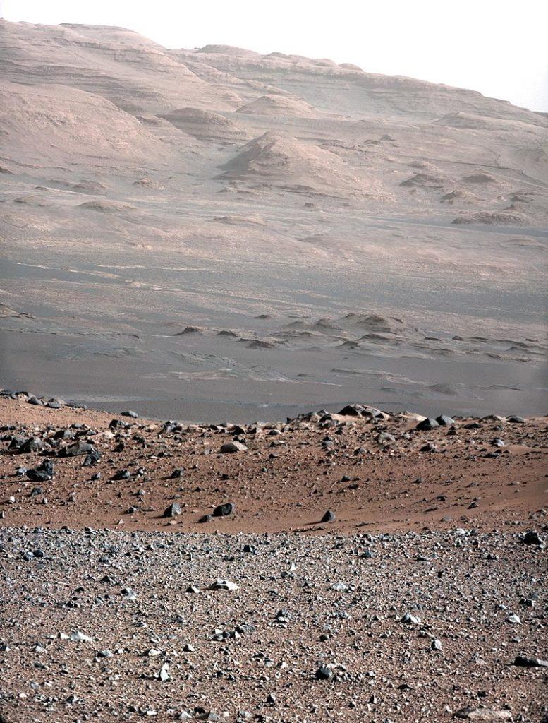 Mont Sharp photographié par Curiosity