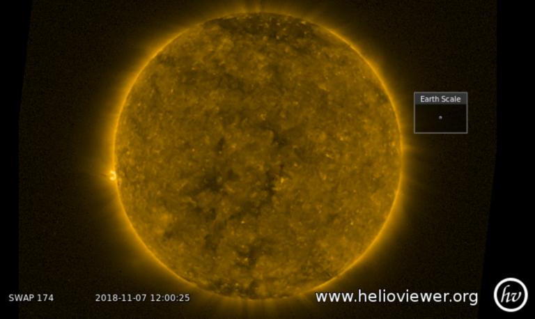 Image du soleil capturée par la sonde Proba-2