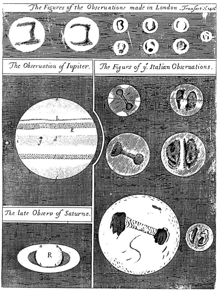Dessins de Mars, Jupiter et Saturne
