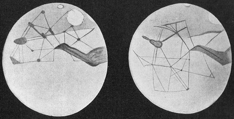 """Les fameux """"canaux martiens"""" dessinés par Percival Lowell"""
