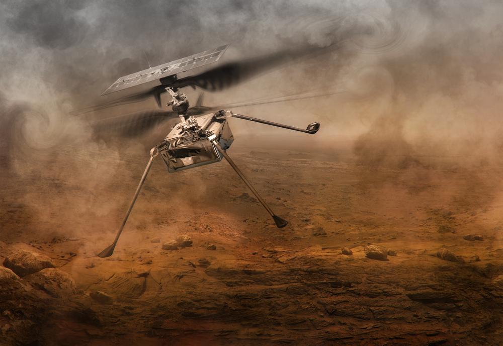 Illustration du drone Ingenuity