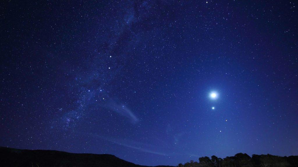 La Lune, Vénus et Mars