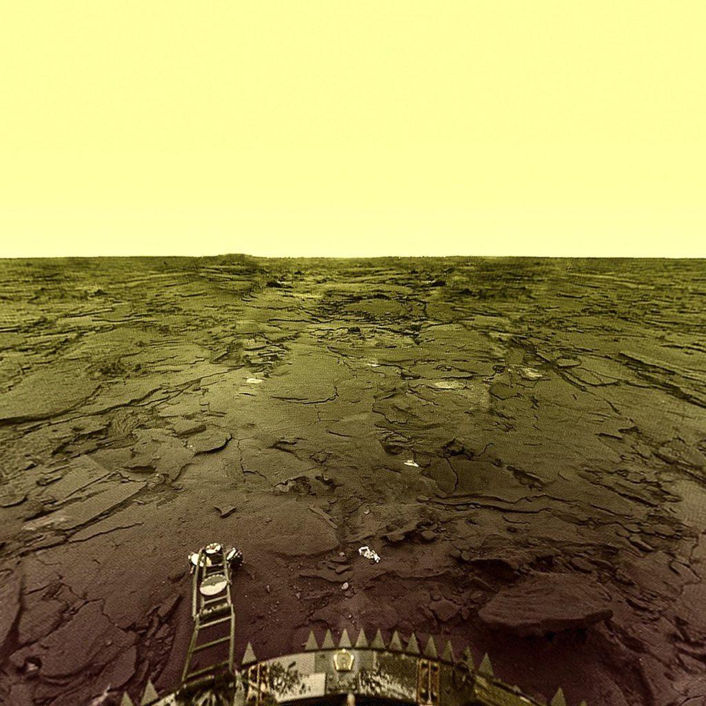 La surface de Vénus vue par Venera 9