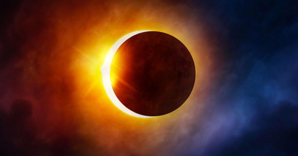 Illustration d'une éclipse solaire