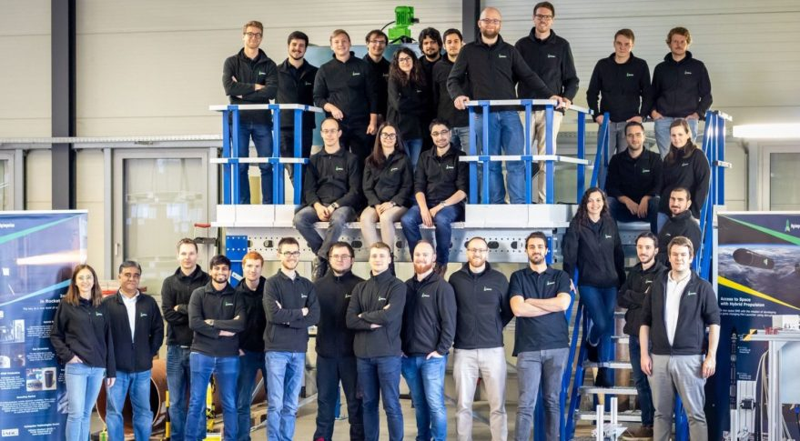 L'équipe de la compagnie HyImpulse
