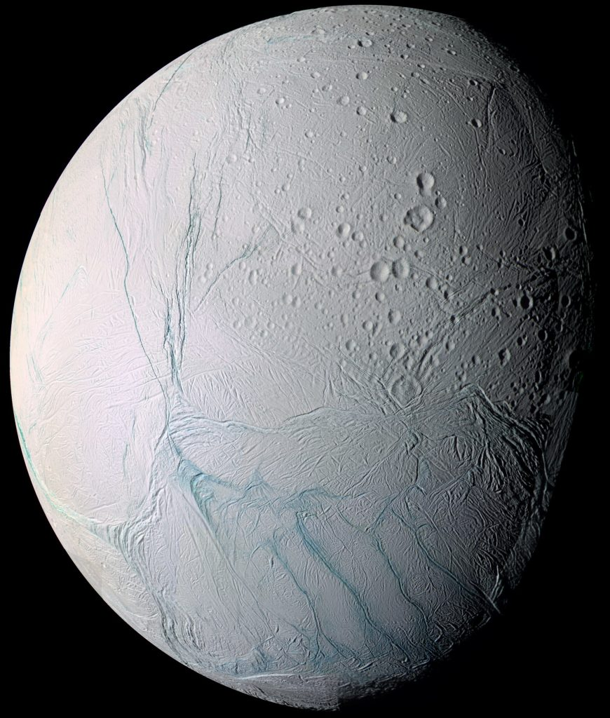 Les rayures de tigre d'Encelade