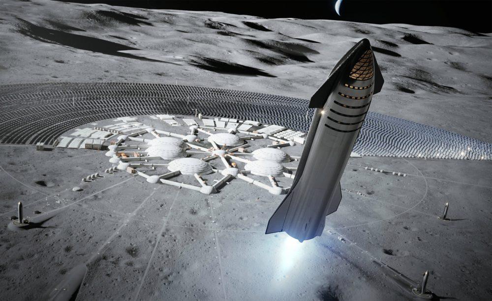 Illustration d'une base lunaire