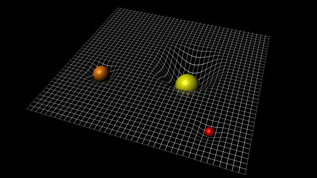 Schématisation de l'espace-temps