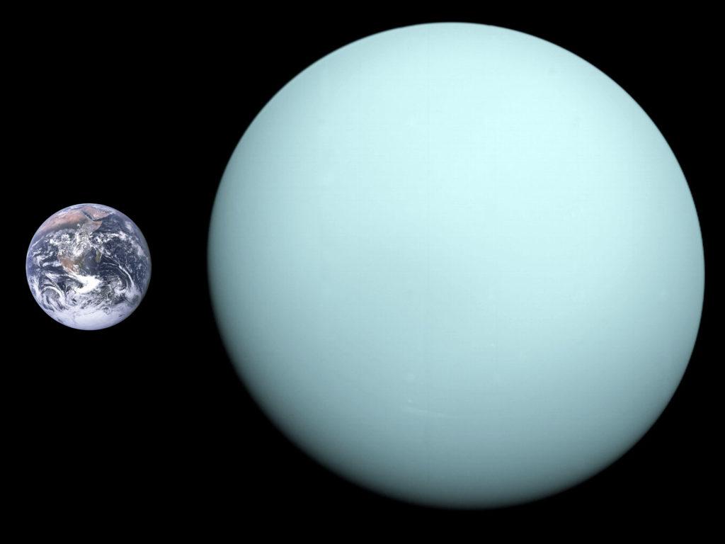 Comparaison Terre Uranus
