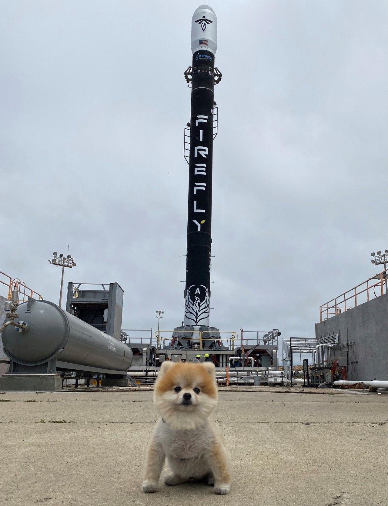 Le lanceur Alpha et sa mascotte Nala