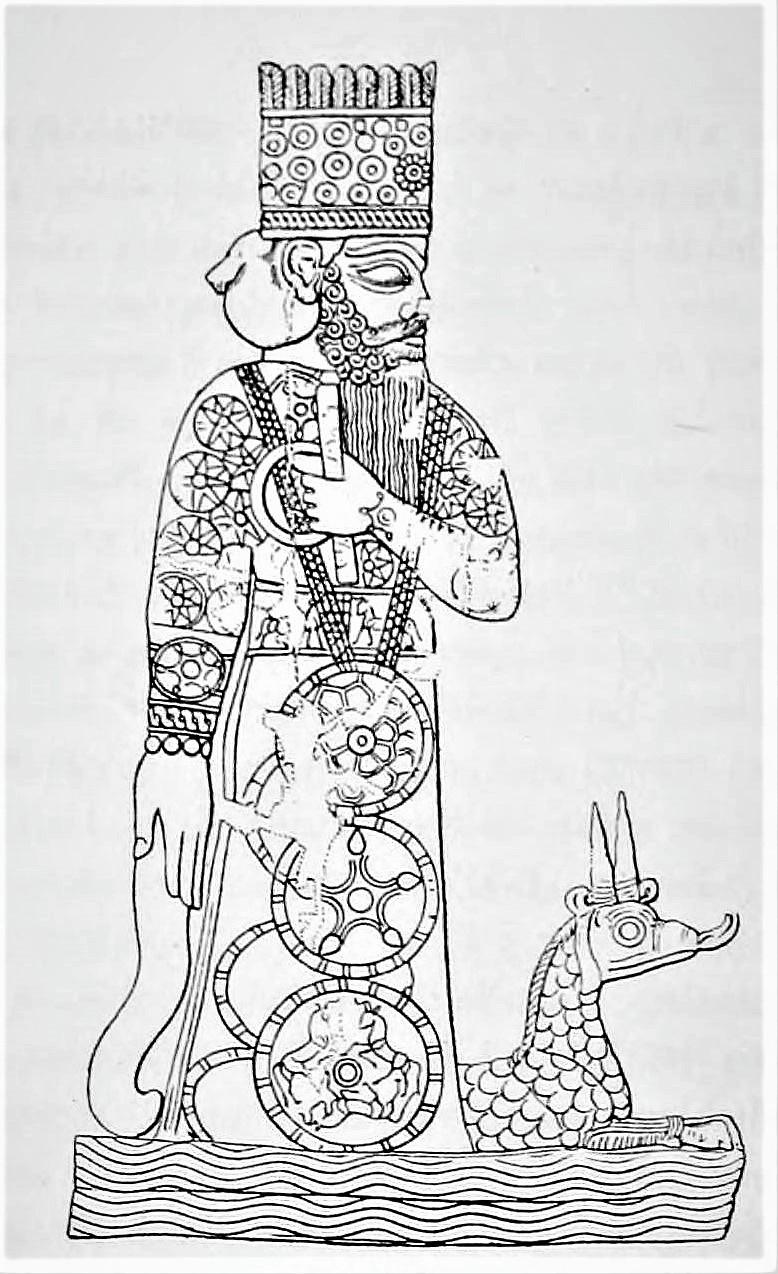Mardouk et son Dragon-Serpent
