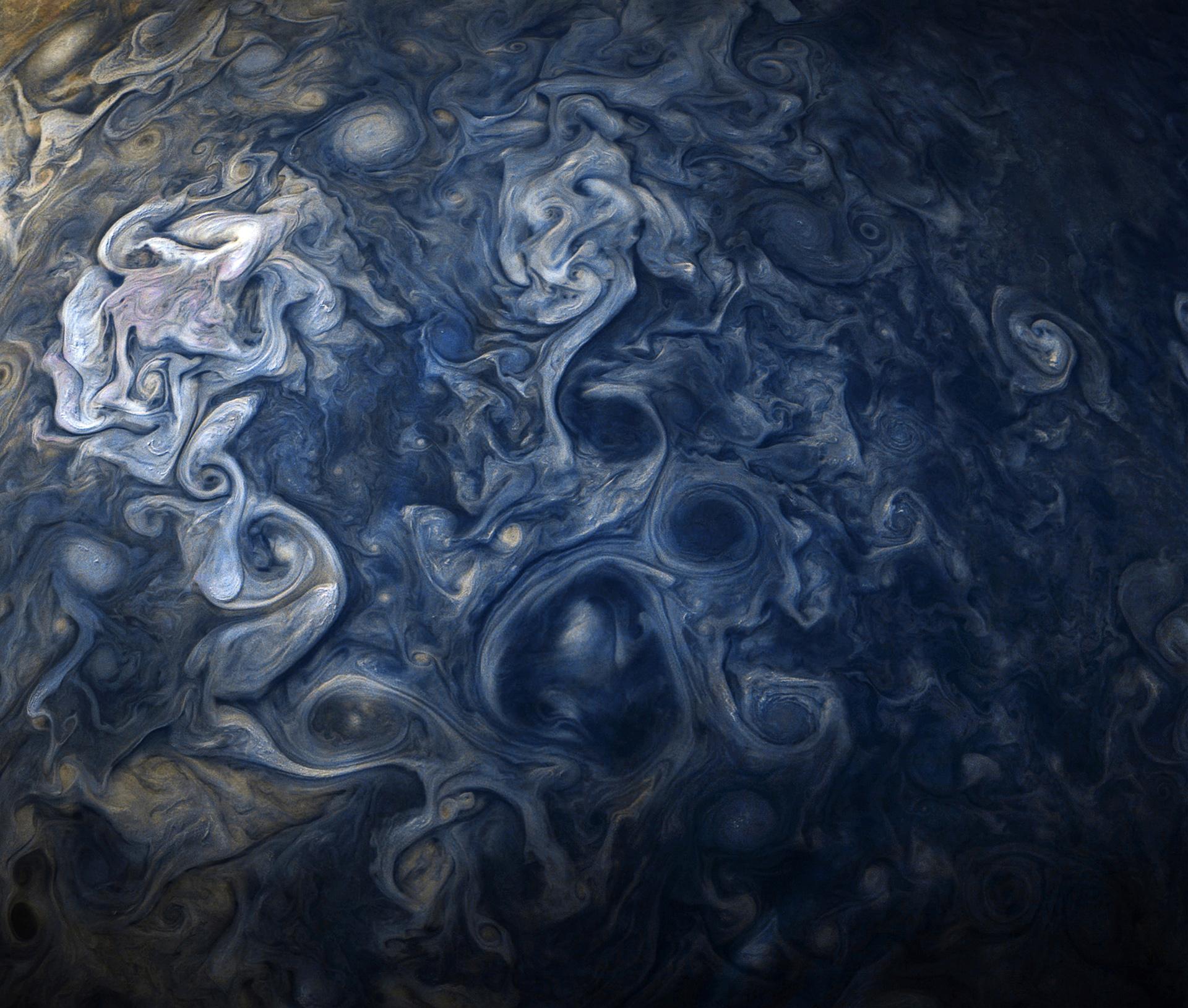 L'hémisphère nord de Jupiter