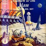 """Couverture du roman de science-fiction """"Mission pour la Lune"""" (Dessin d'Alex Schomburg)"""
